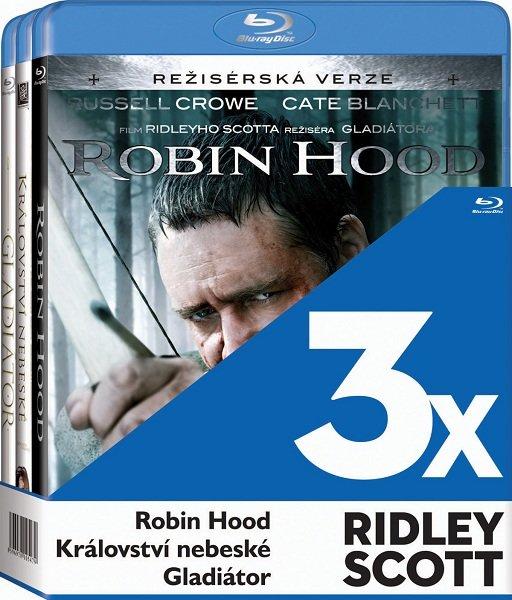 3x Ridley Scott (Gladiátor, Robin Hood, Království nebeské) - 3xBLU-RAY