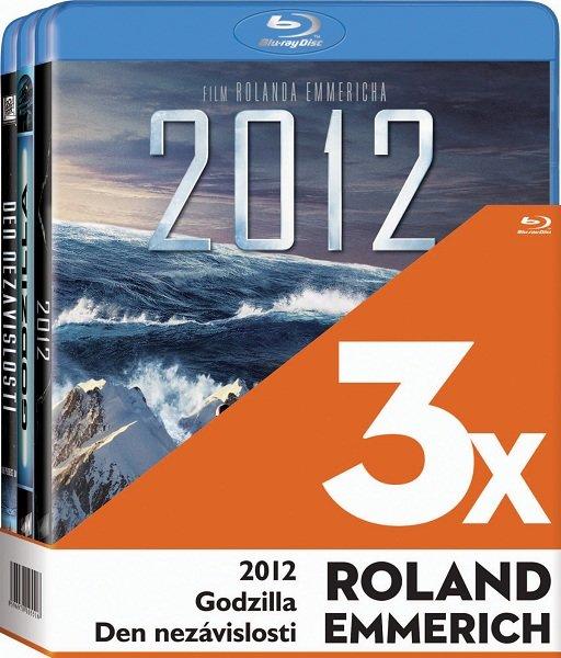 3x Roland Emmerich (2012, Godzilla, Den nezávislosti) - 3xBLU-RAY