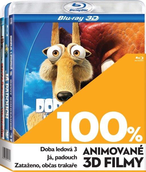 100% 3D Animované filmy - 3xBLU-RAY