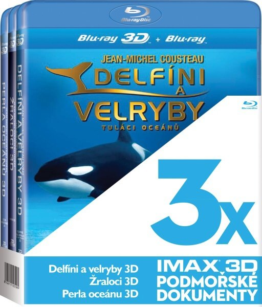 3D IMAX (Žraloci, Delfíni a velryby, Perla oceánu) - 3xBLU-RAY
