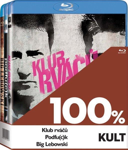 100% kult (Big Lebowski, Klub rváčů, Podfu(c)k) - 3xBLU-RAY
