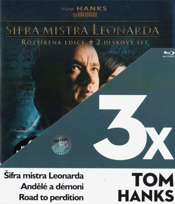 3x Tom Hanks (Šifra mistra Leonarda, Andělé a démoni, Road to perdition) - 3xBLU-RAY