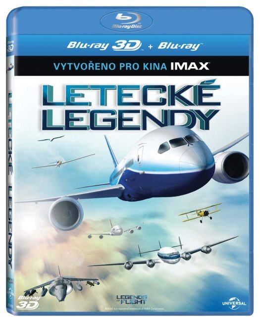 Letecké legendy 2D + 3D (BLU-RAY) - IMAX