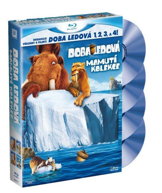 Doba ledová 1-4 - Mamutí kolekce - 4 BLU-RAY (2D verze) + 2 figurky