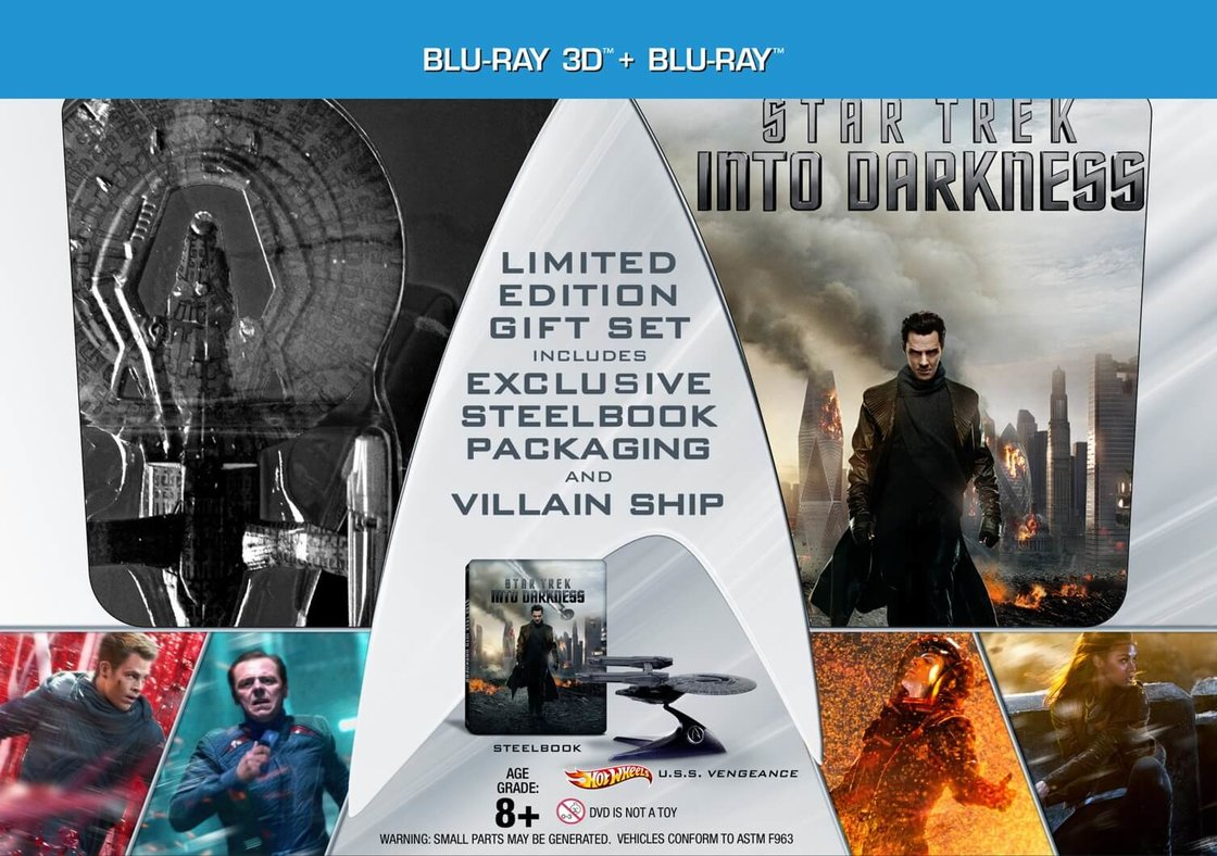 Star Trek: Do temnoty (2xBLU-RAY) (3D+2D) - limitované dárkové balení ve vesmírné lodi