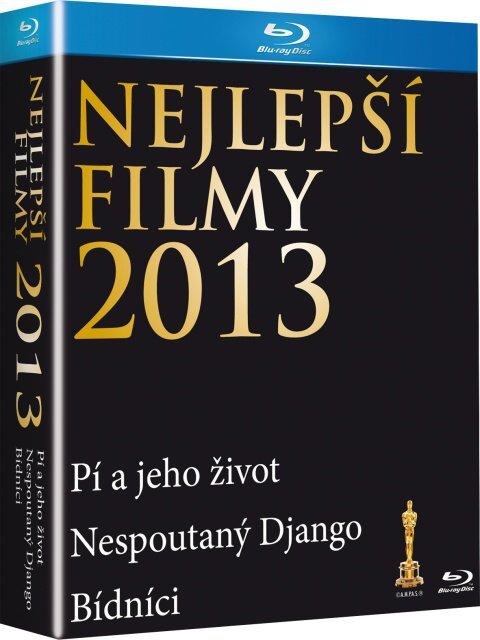 3xBD Nejlepší filmy 2013 (Nespoutaný Django, Pí a jeho život, Bídníci) (BLU-RAY)