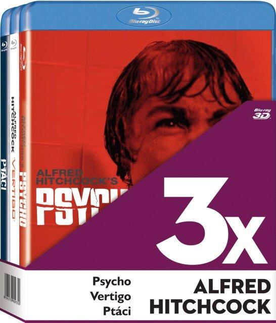 3xBD Alfred Hitchcock (Psycho, Vertigo, Ptáci) (BLU-RAY)