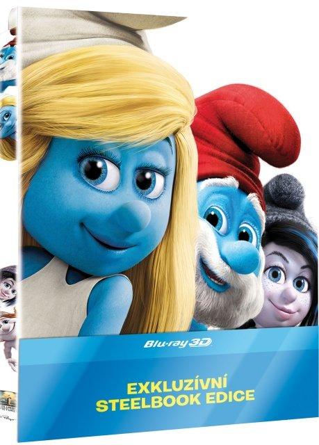 Šmoulové 2 - FILM (2D+3D) (BLU-RAY) - STEELBOOK