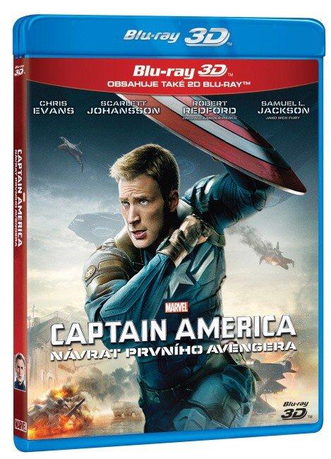 Captain America: Návrat prvního Avengera (2D+3D) (2xBLU-RAY)