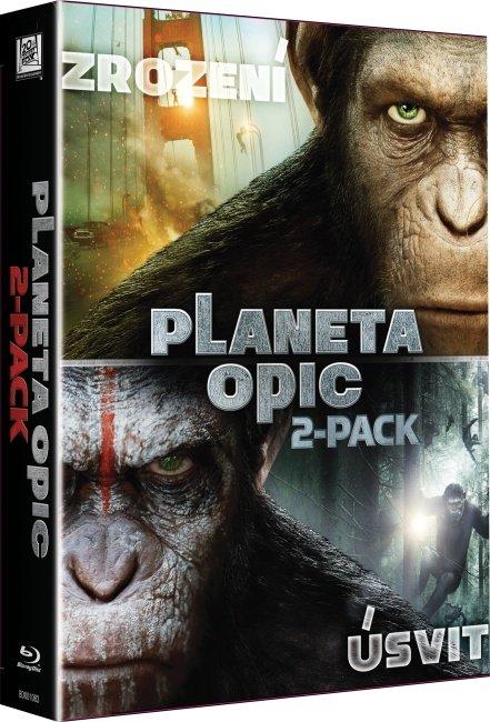 2BD Úsvit planety opic / Zrození planety opic - kolekce (2xBLU-RAY)