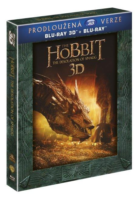 Hobit: Šmakova dračí poušť (3D+2D) (5xBLU-RAY) - prodloužená verze