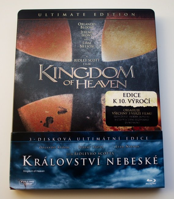 Království nebeské (3xBLU-RAY) - Ultimátní edice - 2 verze filmu - STEELBOOK + fólie na STEELBOOK