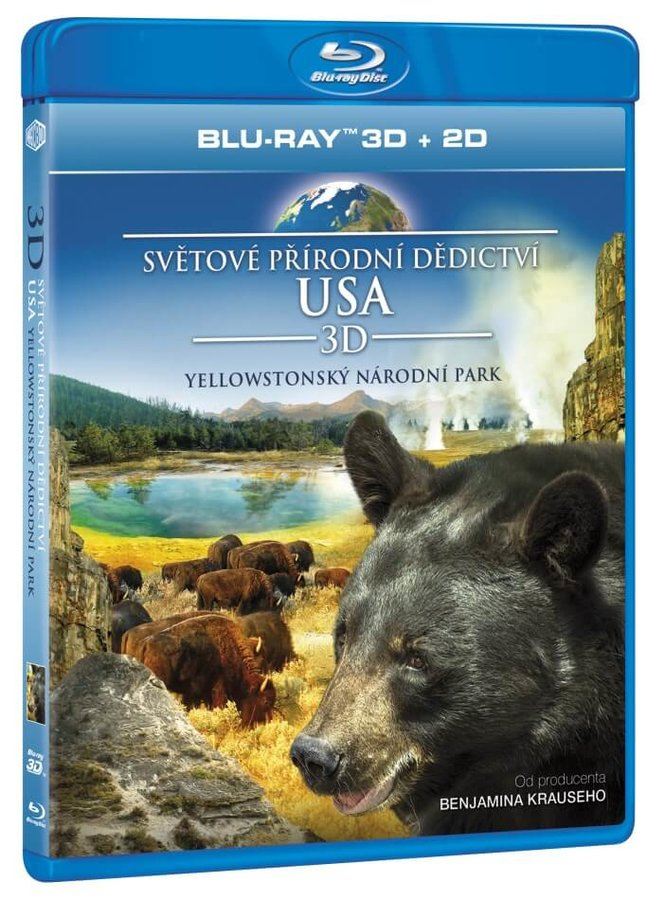Světové přírodní dědictví: USA - Yellowstonský národní park (2D+3D) (BLU-RAY)