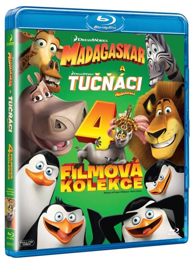 Madagaskar 1-3 + Tučňáci z Madagaskaru - kolekce (4xBLU-RAY)