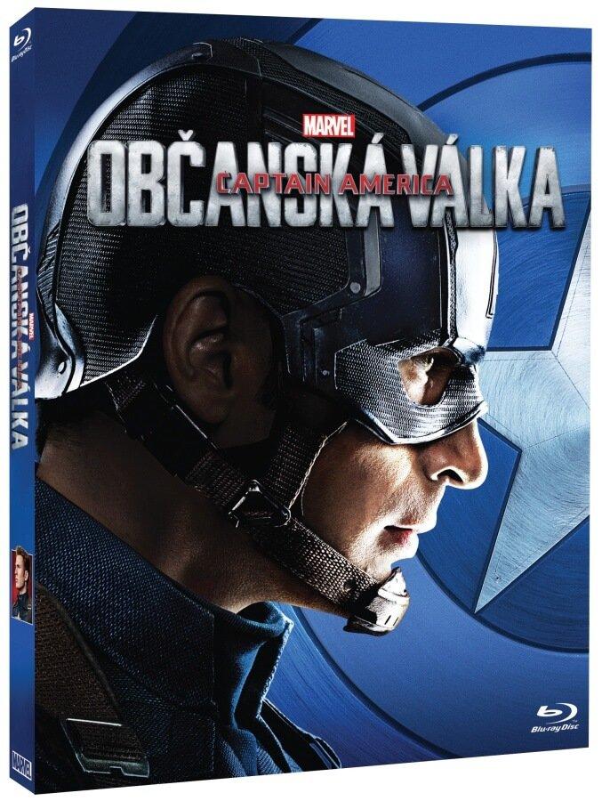 Captain America: Občanská válka (BLU-RAY) - obal Captain America - limitovaná edice