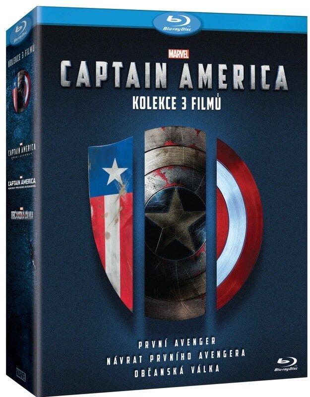 Captain America Trilogie - kolekce (3xBLU-RAY)