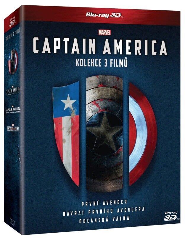 Captain America Trilogie - kolekce (2D+3D) (6xBLU-RAY)