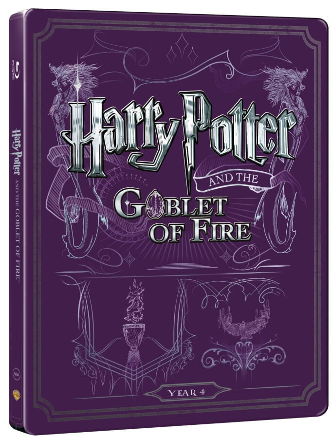 Harry Potter a ohnivý pohár (BLU-RAY+DVD BONUS) - STEELBOOK