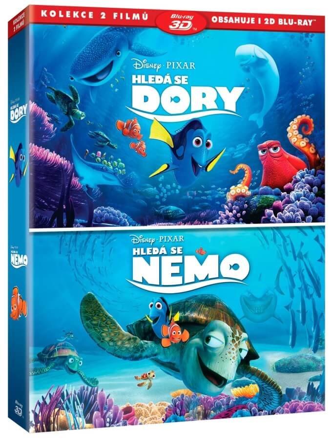 Hledá se Nemo / Hledá se Dory - kolekce (2D+3D) (2xBLU-RAY)