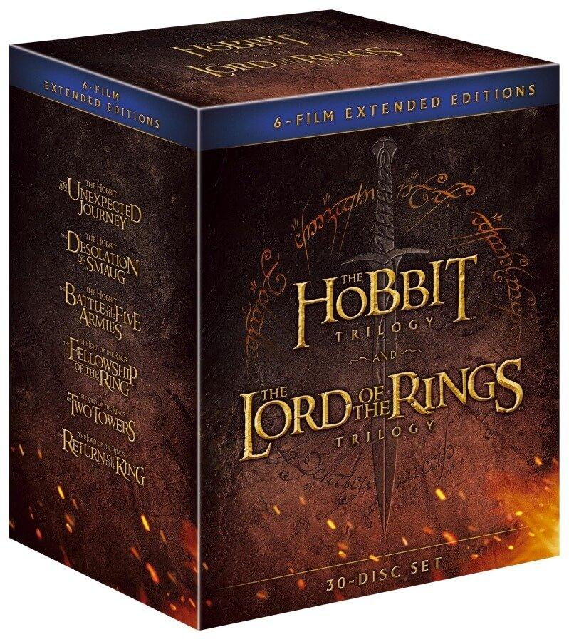 Kolekce Středozemě: Pán prstenů / Hobit (18xBLU-RAY / 12xDVD BONUS) - prodloužené verze