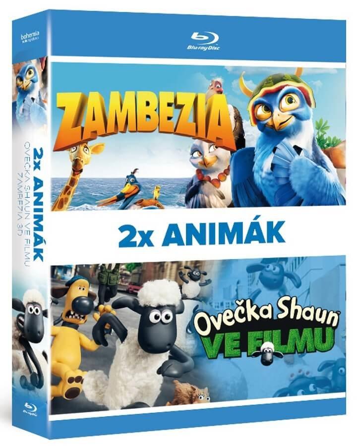 2x Blu ray Animák kolekce: Ovečka Shaun ve filmu / Zambezia 3D (2xBLU-RAY)