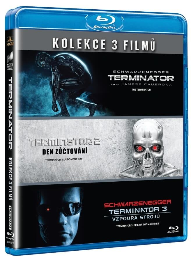Terminator kolekce 1-3 (3xBLU-RAY)