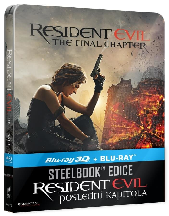 Resident Evil: Poslední kapitola (2D+3D) (2xBLU-RAY) - STEELBOOK