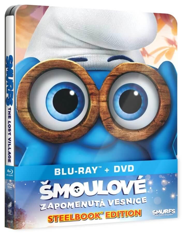 Šmoulové 3: Zapomenutá vesnice (DVD+BLU-RAY) - STEELBOOK