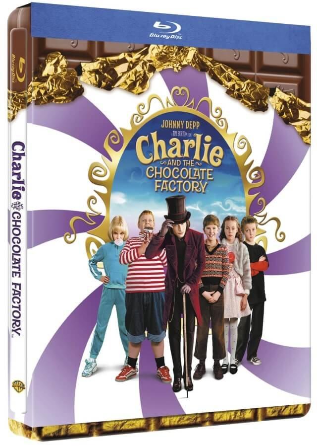 Karlík a továrna na čokoládu (BLU-RAY) - STEELBOOK