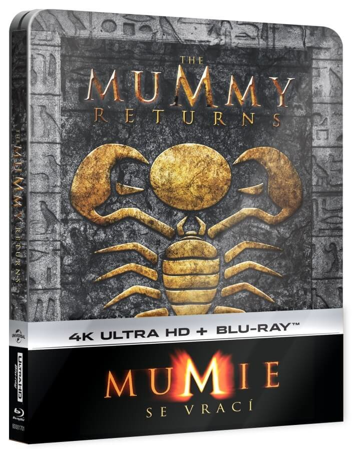 Mumie se vrací (4K ULTRA HD+BLU-RAY) - STEELBOOK