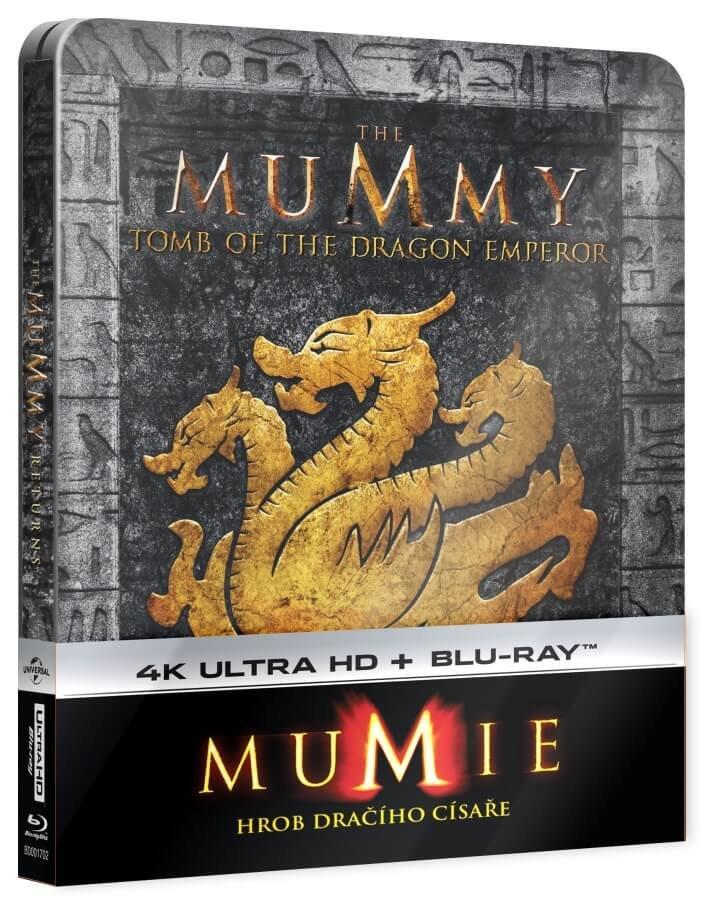 Mumie: Hrob dračího císaře (UHD+BLU-RAY) (2 BLU-RAY) - STEELBOOK