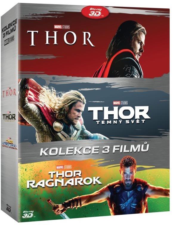 Thor kolekce (1-3) (2D+3D) (6 BLU-RAY)