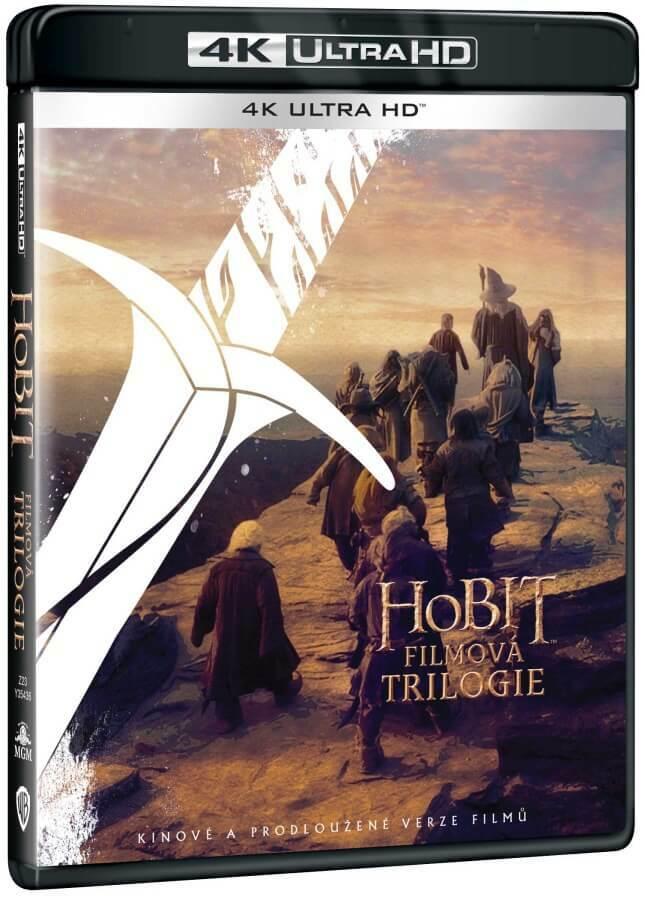Hobit filmová trilogie kolekce (4K ULTRA HD BLU-RAY) (6 disků UHD) - 2 verze filmu