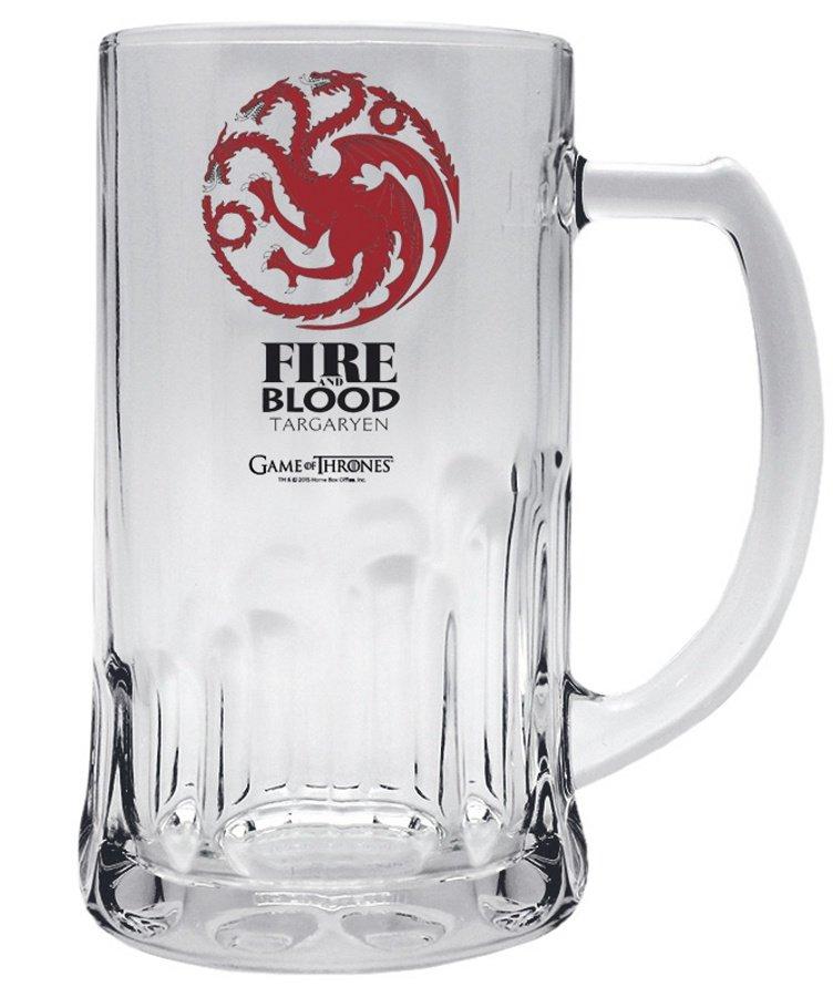 Půllitr Game of Thrones - Targaryen (0,5 L)