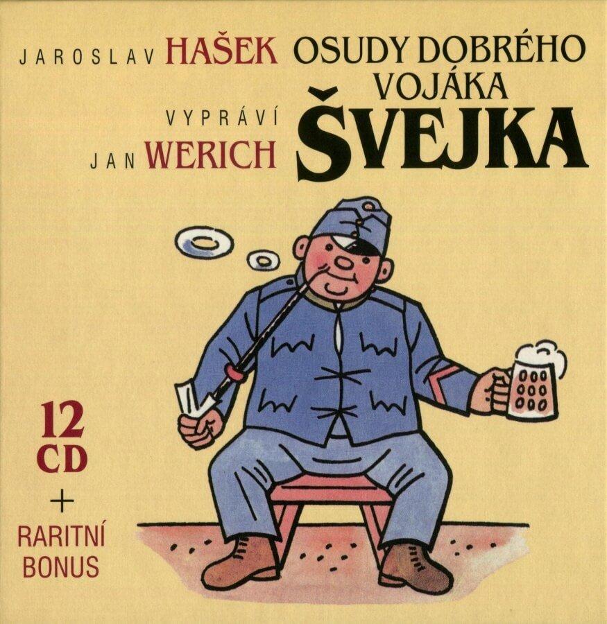 Osudy dobrého vojáka Švejka (12CD) - audiokniha, vypráví Jan Werich