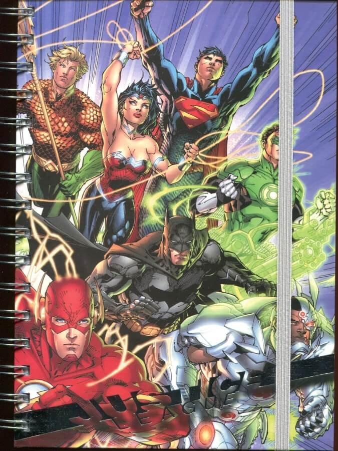 Zápisník DC - Liga spravedlnosti - A5, kroužková vazba