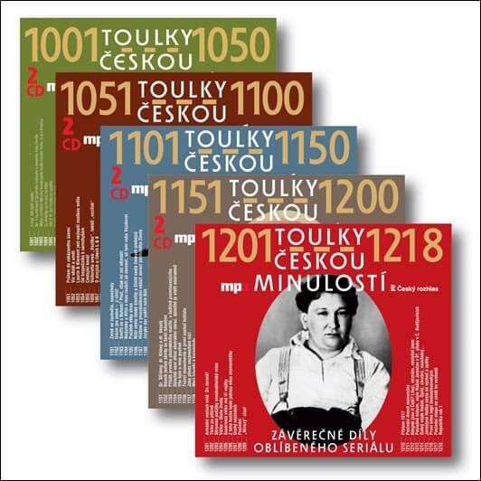 Toulky českou minulostí 1001-1218 komplet, Různí interpreti (9 MP3-CD) - mluvené slovo
