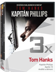 3x Tom Hanks (Kapitán Phillips, Apollo 13, Andělé a démoni) - kolekce (3 DVD)
