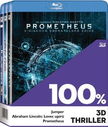 3xBD 100% 3D Thriller (Prometheus, Abraham Lincoln, Jumper) (BLU-RAY)