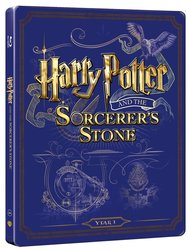 Harry Potter a kámen mudrců (BLU-RAY+DVD BONUS) - STEELBOOK