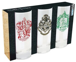 Sklenice Harry Potter set 3ks
