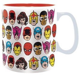 Hrnek Marvel - Avengers Heads 460 ml